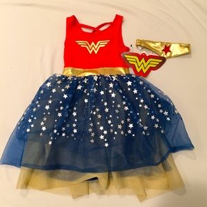 2T Wonder Women Tulle Dress w/ Gold Headband